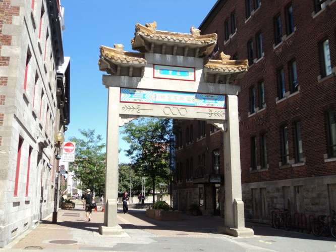 Chinese Gate in Montreal