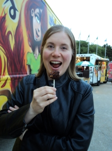 Virginia and the pork belly lollipop