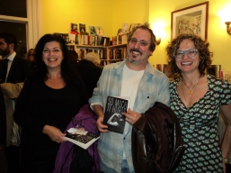 Authors Beverly Ackerman (right), Alan Silverberg (center) and Monique Polak (left)
