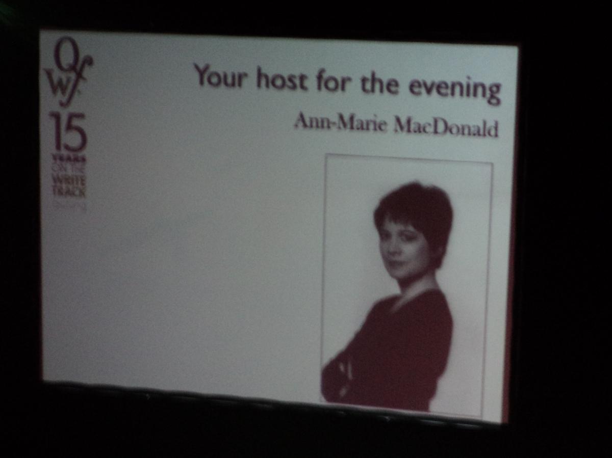 QWF Awards Host Ann-Marie MacDonald