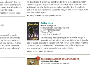 Guitar Hero named Best Book for Kids and Teens 2014