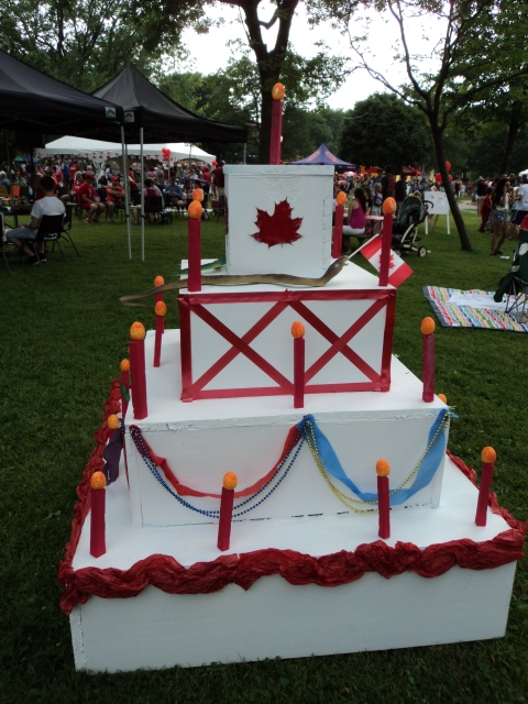 Canada Day Cake 2014