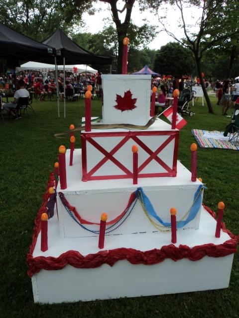 Canada Day Cake 2014