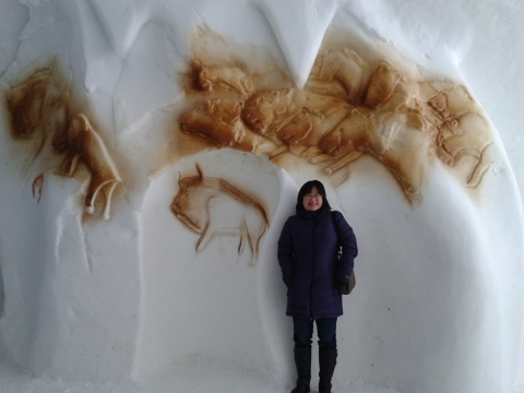 Cave Painting at Ice Hotel