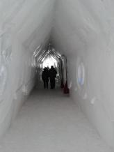 Ice Hotel corridor