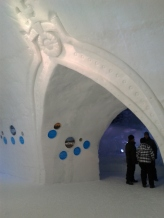 Ice Hotel doorway