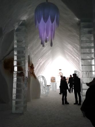 Ice Hotel lobby