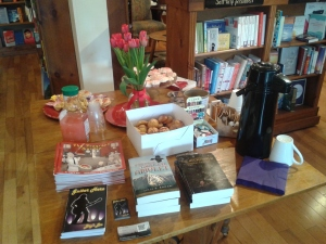 Goodies at Authors for Indies Day