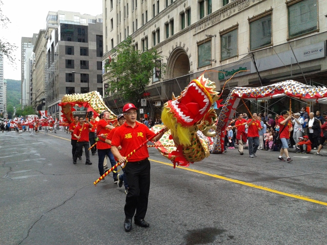 Dragon Dance in Canada Day parade 2017