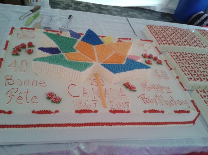 Canada Day cake 2017